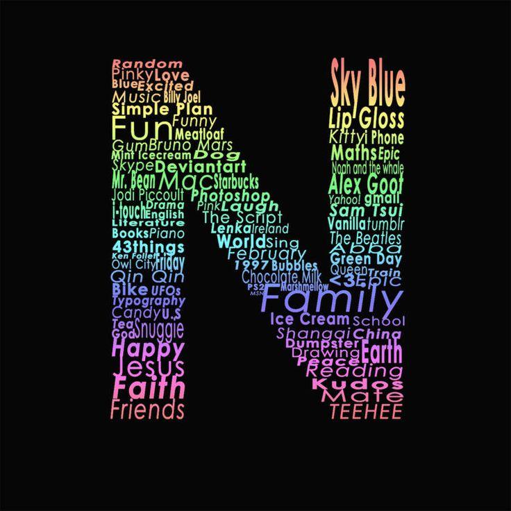 عکس پروفایل حرف N جدید زیبا و خاص Lettering Name Wallpaper Alphabet Letters Design