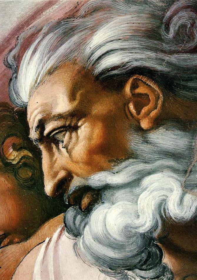 Sistine Chapel - Creation of Adam (detail) 4 by Michelangelo Buonarroti, 1510