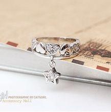 2015 doğrudan satış özel teklif gelinlik setleri kadın akrilik kalay alaşımı takı sterlini takı E29 yıldız halkası pentagram(China (Mainland))