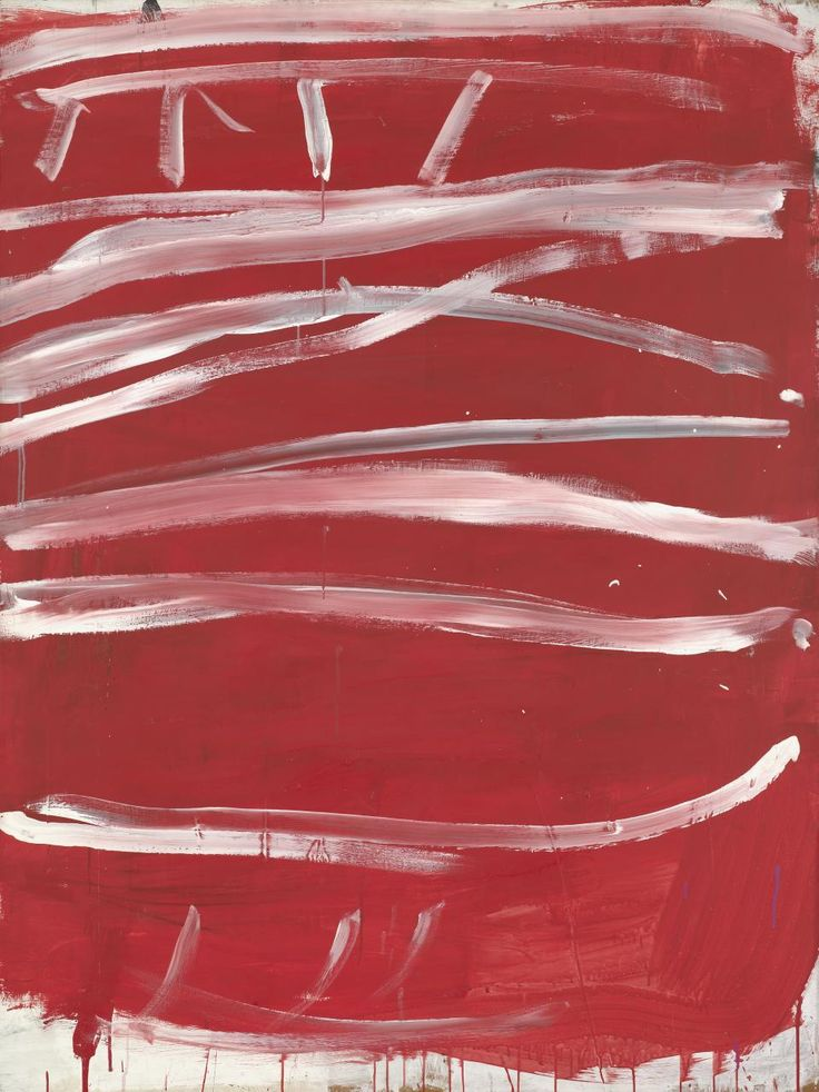White lines (horizontal) on red