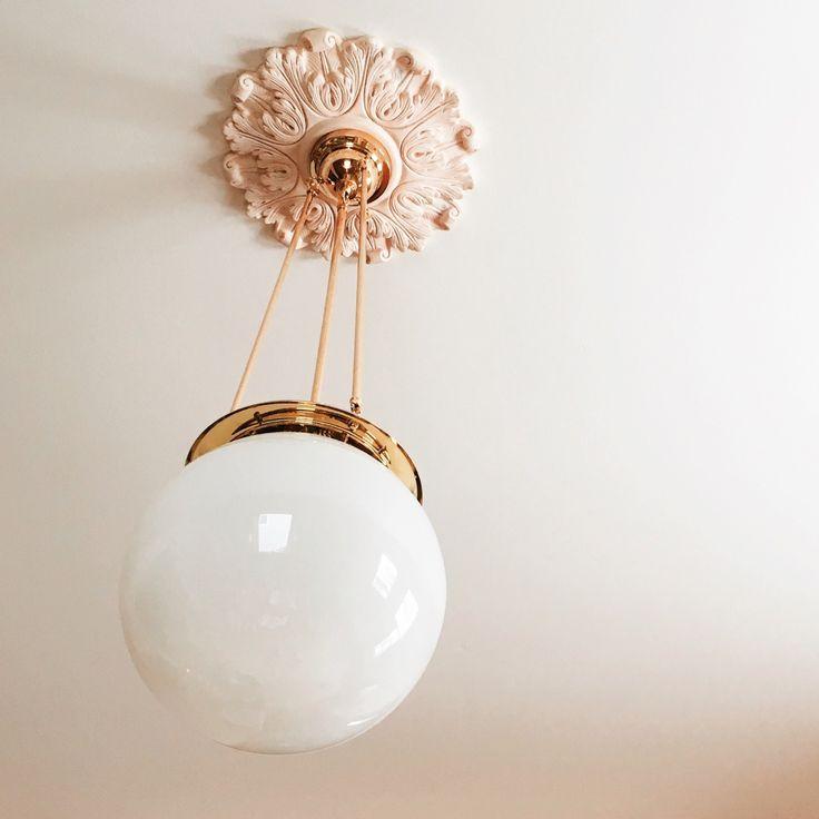 Hood Classic Globe Pendant from Rejuvenation in Making it Lovely's Library Design
