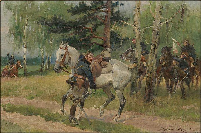 Uhlans on Patrol - Wojciech Kossak