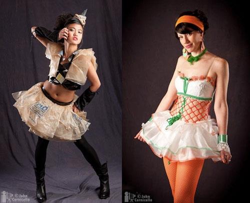 Haute Trash had a fashion show! Photos by John Cornicello