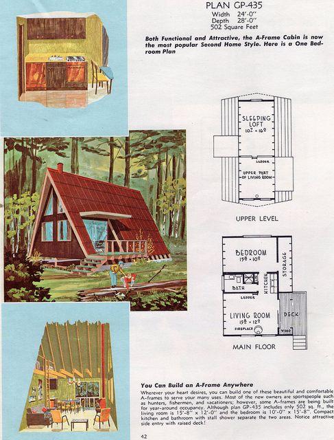 Classic A-frame tiny home design