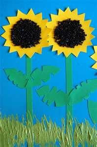 Easy sunflower craftBlack Crafts, Sunflowers Crafts, Crafts Ideas, Grass Ideas, Kids Crafts, Kido Crafts, Sunflowers Patches, Classroom Ideas, Patches Crafts