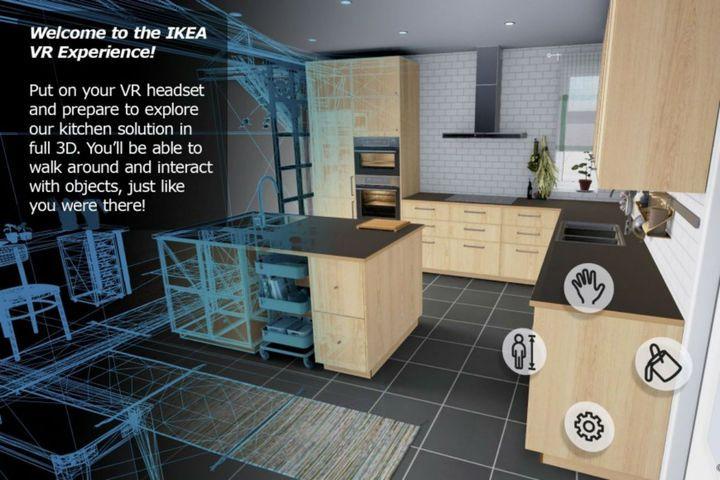 Ikea VR Virtual kitchen Le géant suédois de l'ameublement annonce le lancement de l'application Ikea VR Experience. Disponible sur la plateforme de jeux vidéo Steam, la solution permet aux utilisateurs de s'immerger dans une cuisine en réalité virtuelle, à l'aide du nouveau casque HTC Vive. Une innovation qui pourrait peut-être voir le jour en point de vente. Explications.