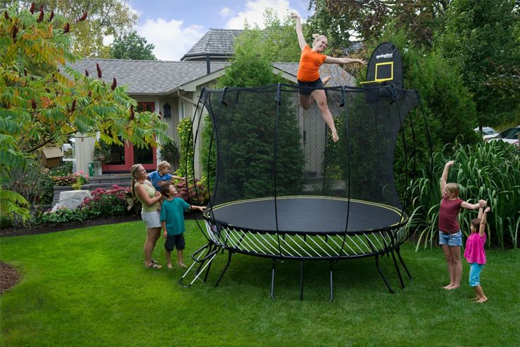 Outdoor Play! Fun on the trampoline