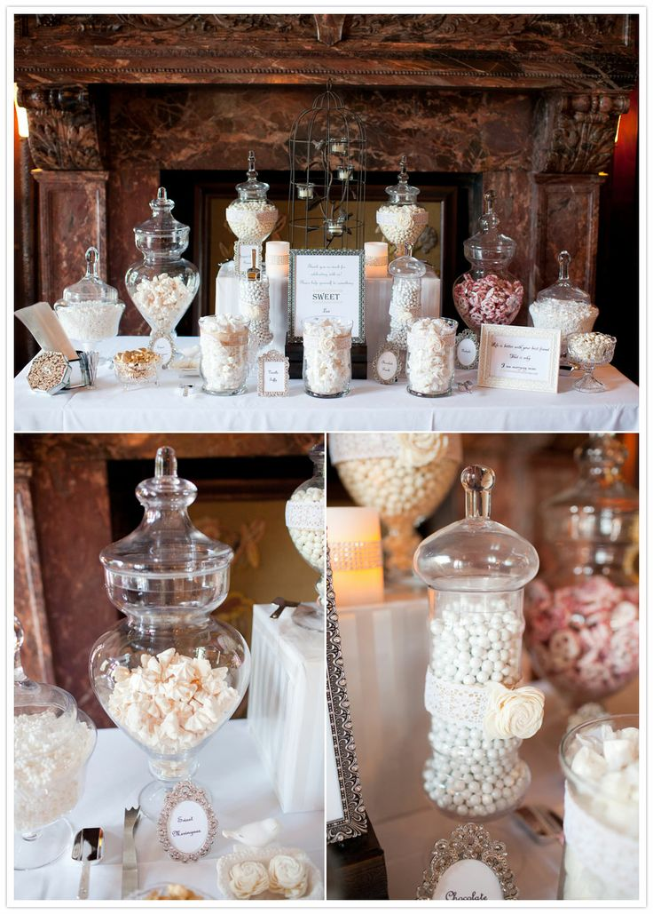 Candy Bar! There are so many paths to go with candy bars. Choose your favorite candies, your colors and theme and voila! You've got yourself a stylized bar to serve as favors for your guests.