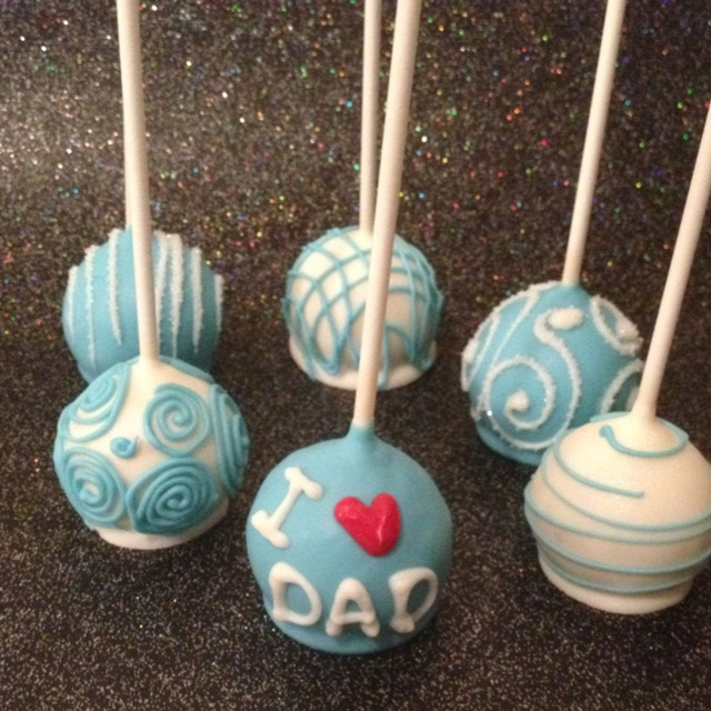 #cakepops #cake #pops #birthday #parties #party #fathersday #heart #blue