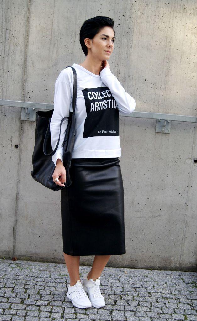 Юбка с кроссовками (69 фото): юбка карандаш, белые и черные кроссовки, как подобрать образ к кожаной юбке, модные тенденции