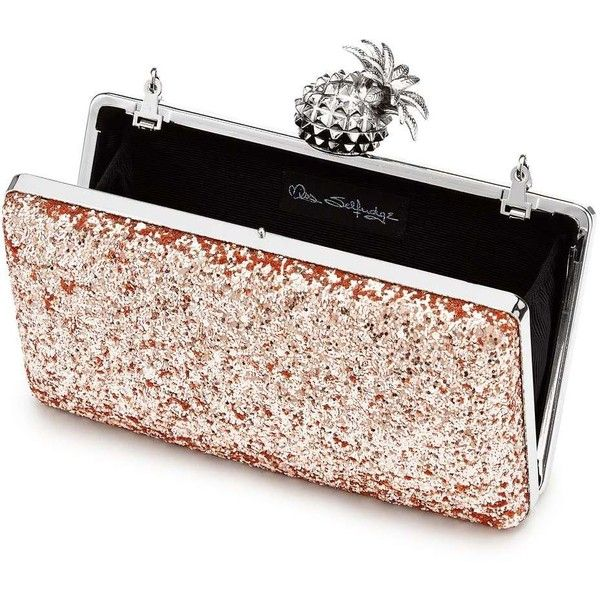 Miss Selfridge Rose Gold Pineapple Clutch ( 55) ❤ liked on Polyvore  featuring bags 53a4e379d
