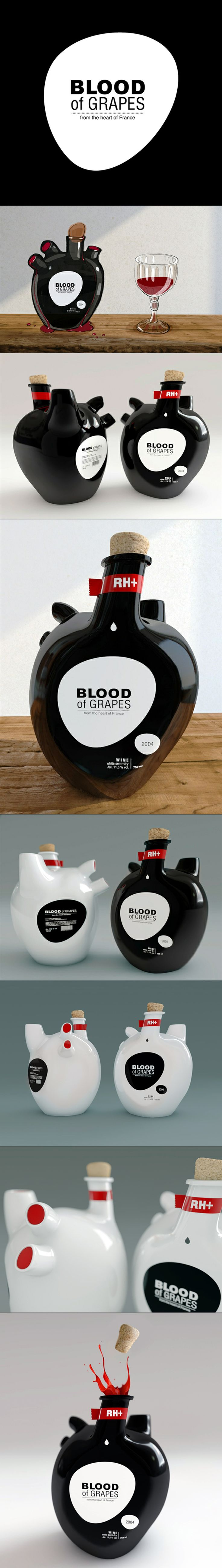 Showcase unique packaging | blood of grapes by constantin bolimond