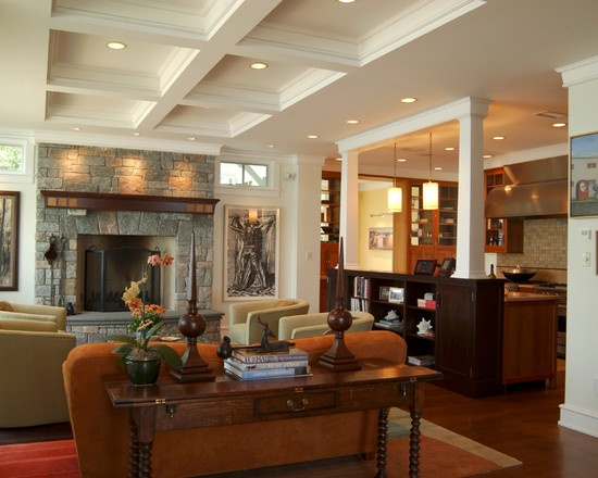 40 best images about split level life on pinterest for Craftsman style living room ideas