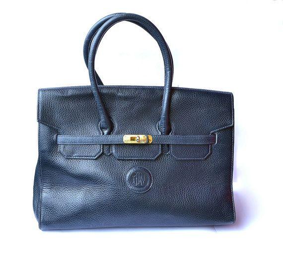 5b9bc73b6d5 Vintage Dario Rossi For Redwall Blue Leather Birkin Bag   Handbag   Now 165    MySunnyStore   Pinterest   Birkin, Bags and Leather