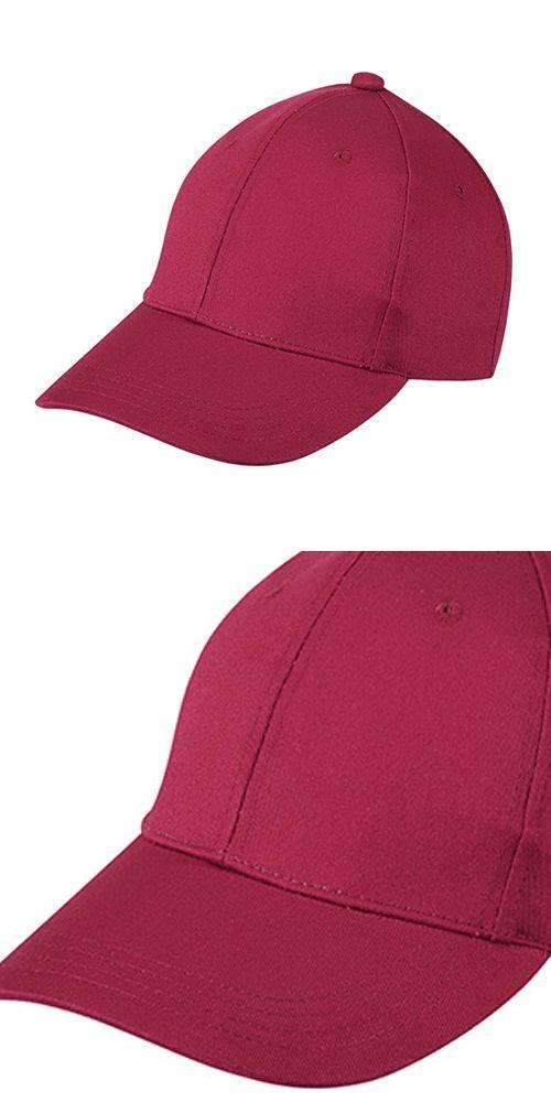 IMC Kids Plain Baseball Cap Girls Boys Junior Childrens Hat Summer-Classic red