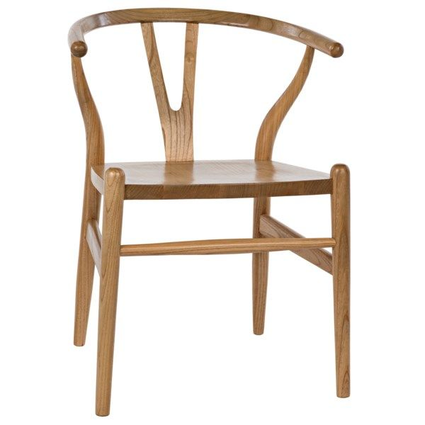 Zola Chair Natural Solid Wood Dining Chairs Transitional