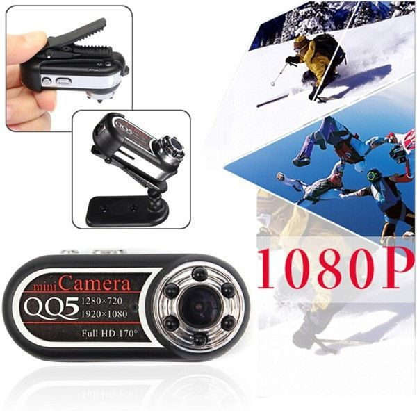 Clock Kit Temperature Light Control Version DIY 4 Digit LED Electronic. QQ5 170 Degree Angle Full HD 1080P 720P Infrared Night Vision DV Mini Sport Security Camera Camcorder   Features:  Mini design, portable and practical High quality picture/video shooting full HD 1080P/720P, 170-degree wide angle shooting Supports taking pictures, shooting video and auto recording video in motion detection mode Supports infrared night vision, computer webcam for video chatting, high definition recording…