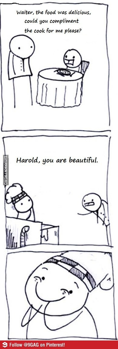 You are beautiful.