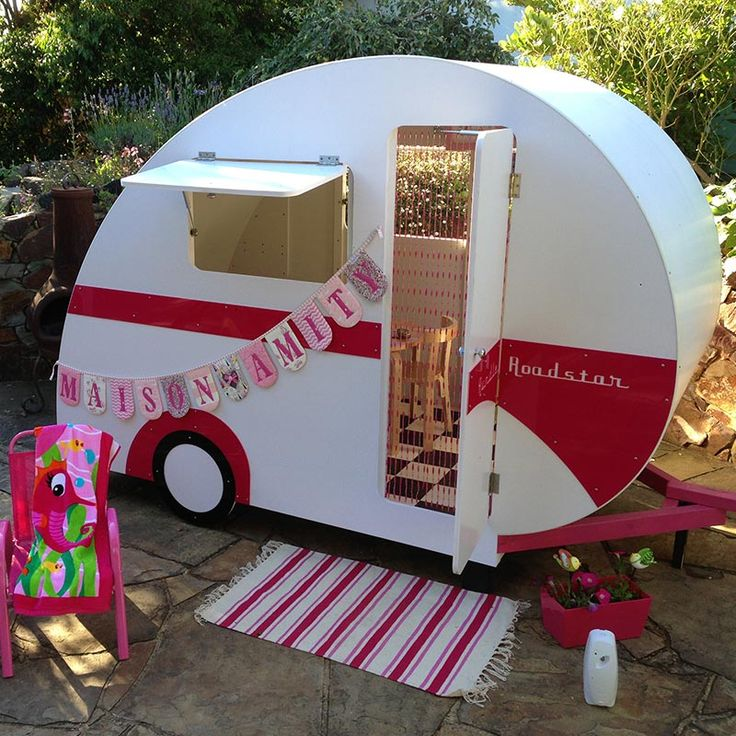 { TWO STUNNING CARAVAN CUBBIES are up for grabs!!! }  These beautiful cubbies are worth $2495 each!!  We'll also deliver them at no charge, and you can choose from pink, red, yellow, green or blue! Enter here: http://bit.ly/cubbycaravans