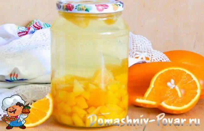 Компот из апельсинов рецепт на зиму