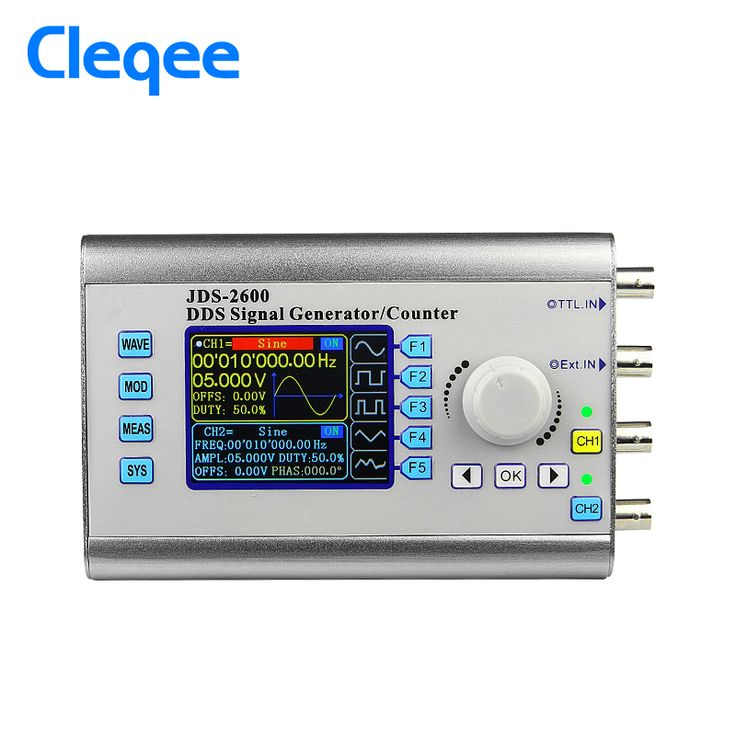 Get Discount Cleqee JDS2600 15MHz digital control dual channel DDS function signal generator #Cleqee #JDS2600 #15MHz #digital #control #dual #channel #function #signal #generator