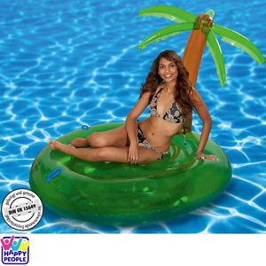 Badeinsel Poollounge Schwimminsel Aufblasbar Poolinsel Pool Liege Insel Badespaß   eBay