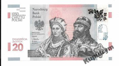 20 złotych 1050 rocznica Chrztu Polski