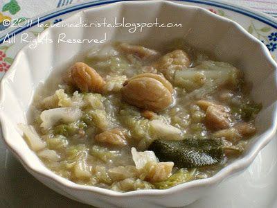 WHB #311 Minestra di cavolo verza e castagne - Savoy Cabbage amd Chestnut soup - Supa de varza si castane