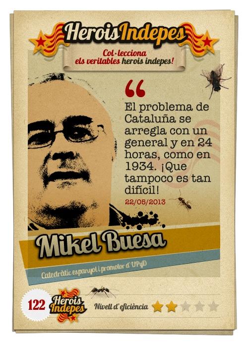 """#HeroisIndepes 122. Mikel Buesa: """"El problema de Cataluña se arregla con un general y en 24 horas, como en 1934. ¡Que tampoco es tan difícil!"""""""