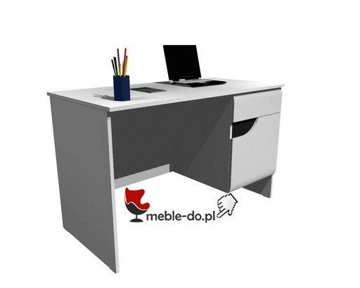 BRYZA BIURKO BRB-1C Biurko z 1 drzwiami i szufladą.  Bryza biurko kolekcja Restol Biurko stworzone do biura lub pokoju młodzieżowego. Dostępne w śnieżnobiałym kolorze, bez uchwytowe. Wykonane przez sprawdzonego producenta mebli firmę Restol, w ramach sytemu meblowego Bryza. Mebel posiada front wykonany z płyty MDF na wysoki połysk oraz matowy korpus. Solidnie wykonany mebel z możliwoscią wybrania kolorystyki frontów przez klienta