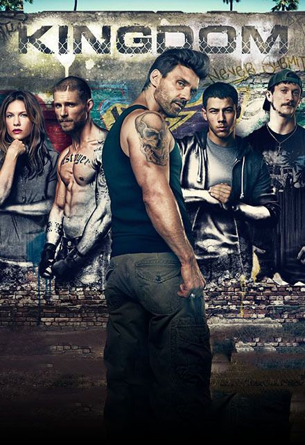 Kingdom (2014– ) - (DirecTV)  Oct.14, 2015  at 9 p.m. - Alvey and Lisa are struggling to keep their gym, Navy Street, afloat. Their best hope is Alvey's son Nate, an up and coming fighter. Jay, Alvey's other son, is on the outs with his father. When Lisa's ex and former MMA champ, Ryan, shows up, complications arise. Nate has secrets of his own which may hold him back. - Creator: Byron Balasco -  Stars: Joe Stevenson, Frank Grillo, Juan Archuleta - DRAMA