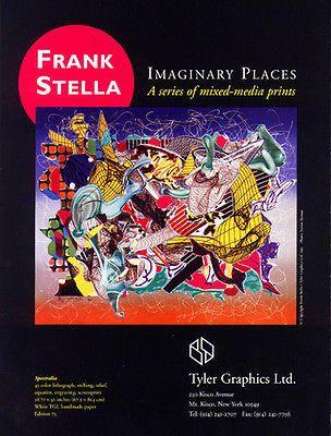 Frank Stella Art Mixed Media Artwork Ad 1995 Spectralia Tyler Graphics NY