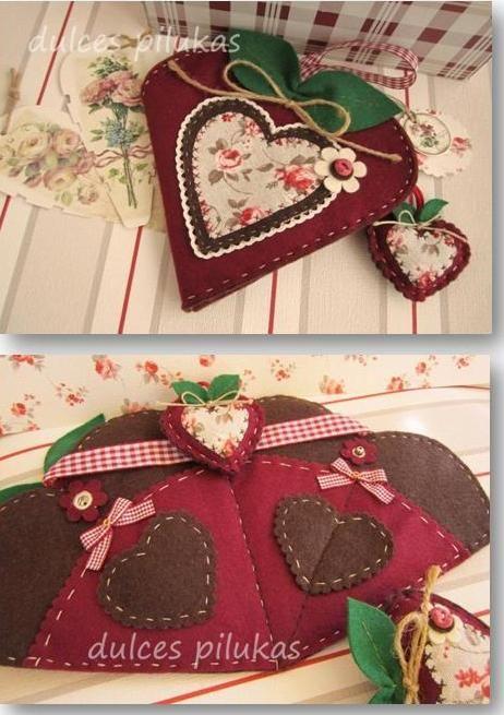 dulces pilukas: Costurero Corazón de Manzana y mucho más...