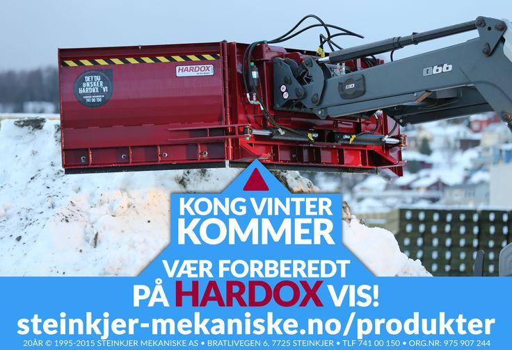 KONG #vinter KOMMER! VÆR forberedt på #HARDOX vis ~ http://steinkjer-mekaniske.no/produkter