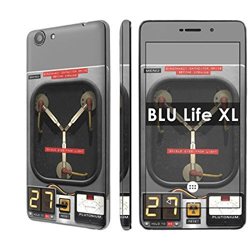 """Buy BLU Life XL Decal Mania Skin Sticker [Matching Wallpaper] - [Flux Capacitor] for BLU Life XL [5.5"""" Screen] NEW for 2.97 USD 