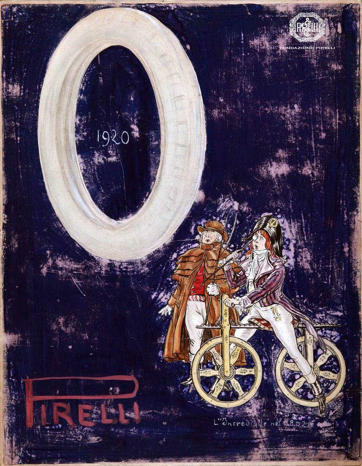 Aldo Mazza, advertisement for Pirelli tyres, 1920 http://www.fondazionepirelli.org