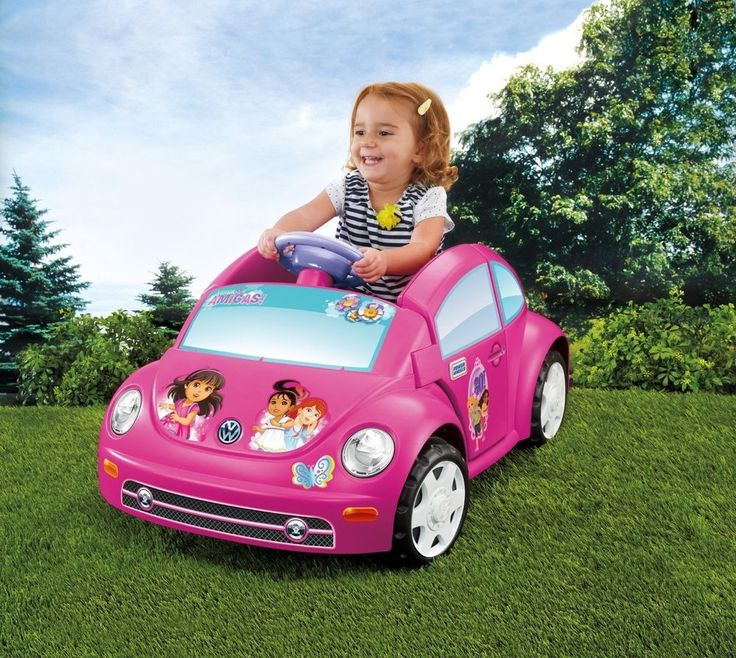 Fisher Price Power Wheels Dora and Friends Volkswagen New Beetle Car for Kids 6V #FisherPrice