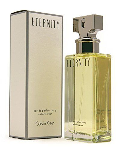 (Product review for Calvin Klein Eternity Eau de Parfum, 6.7 fl. oz.). Romantic. Timeless. Feminine. ETERNITY was inspired by the ideal of lasting love and intimacy. This classic scent is a harmonious blend of white flowers and creamy woods. Top notes – freesia, mandarin, sage Mid notes – muguet, white lily, marigold, narcissus Base notes – sandalwood, patchouli, am...