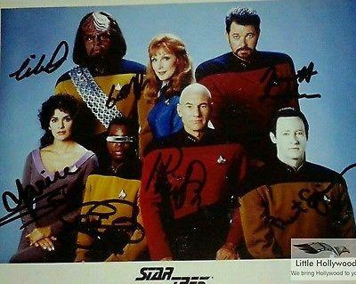 STAR-TREK-Cast-8x10-Autographed-RP-lustre-Photo