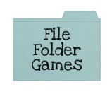 File folder games for preschool and kindergarten-age children. Free downloads and easy assembly.