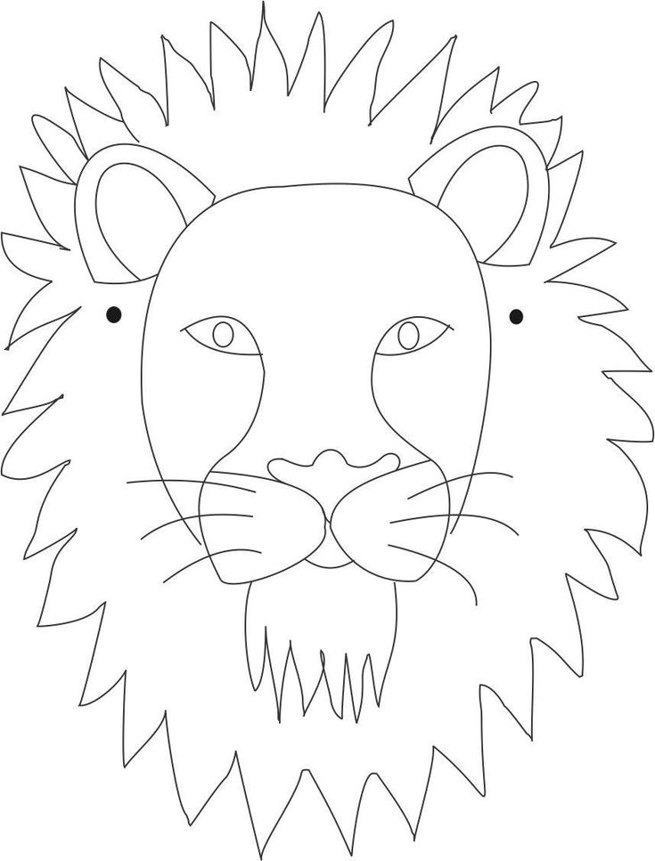 Lion mask printable coloring page for kids- **draw ur own or print these diff animal masks, kids can color and string them to wear