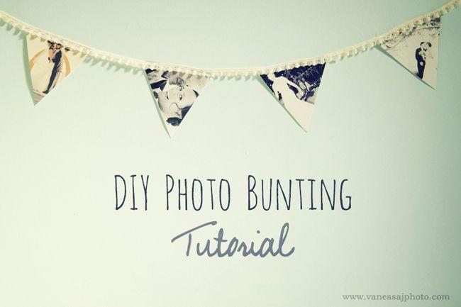 Project DIY: Photo Bunting FlagsDiy Ideas, Buntings Tutorials, Diy Wedding Buntings, Photos Buntings, Projects Diy, Diy Crafts Buntings, Buntings Flags Diy, Room Diy, Diy Photos