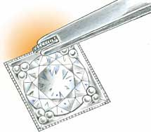 Professional Jeweler Archive: Bead- and Bright-Cut Setting Rounds in Platinum Using Triple Corner Beads