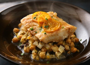 Steamed Fish with Chickpeas and Currants - lengthy ingredient list ...