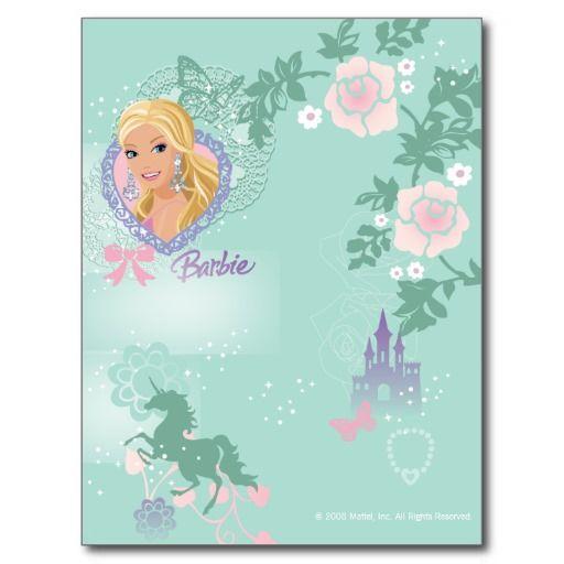 Magical Mystical Barbie Fantasy Post Card