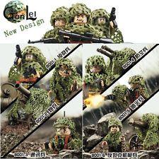 6pcs Military Armed Assault Camouflage Soldier Etc fit Lego Building Set Figures