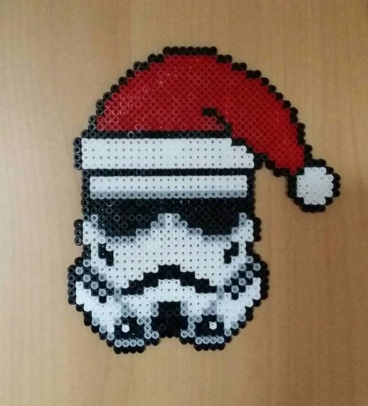 Christmas Stormtrooper - Star Wars perler beads by Antina86