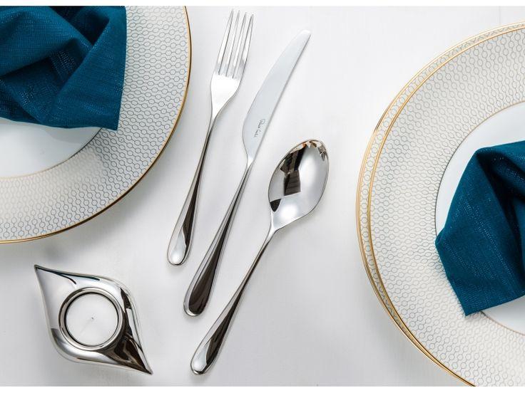 Sztućce Robert Welch Arden, nowoczesna kuchnia, prezent ślubny, prezenty, na ślub, jadalnia, aranżacja stołu, wesele, zastawa stołowa