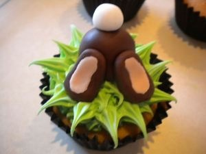 Cute Rabbit cupcake toppers