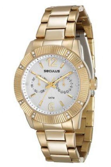 23538LPSVDA1 Relógio Feminino Dourado Seculus Prime | Guest Club
